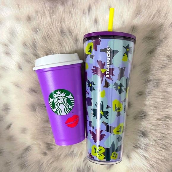 💜Starbucks tumbler cup and reusable cup set💜💋